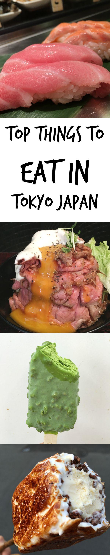 Top things to eat in Japan, tokyo region