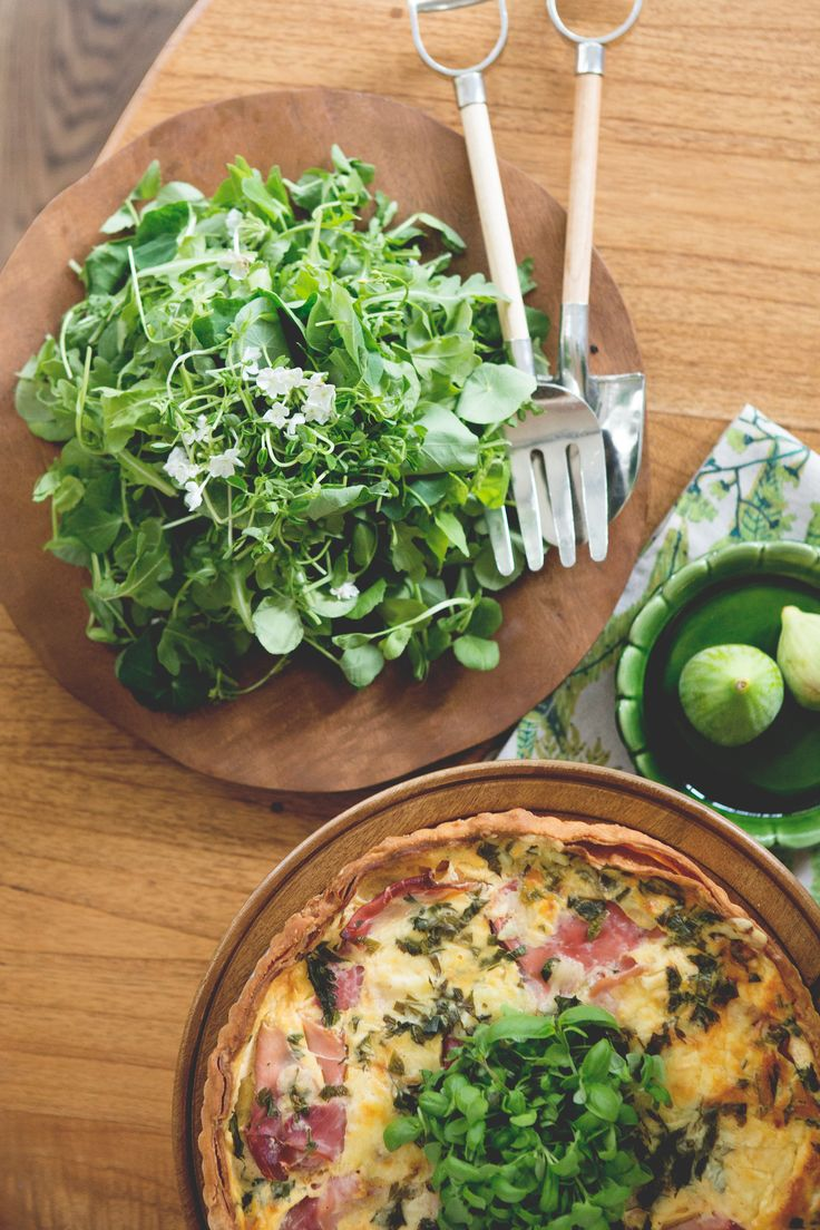 Bacon, Spinach and Cheese Tart
