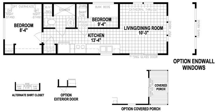 Alabama florida and models on pinterest for 12x40 mobile home floor plans