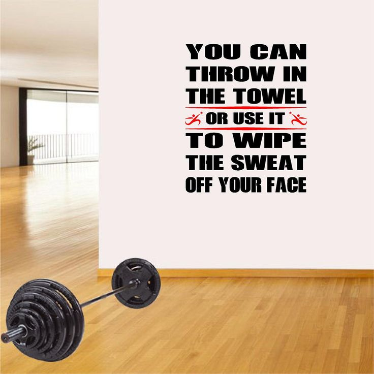 Nike Gym Sweat Towel: Fitness Wall Decals. Gym. Exercise: You Can Throw In The