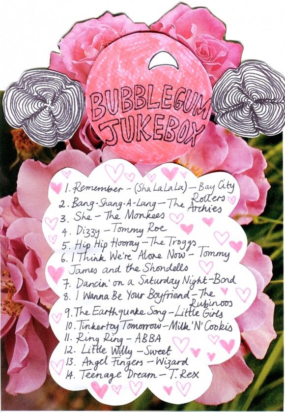 bubblegum jukebox playlist-;ove this its so up beat and oldies! I love to dance to it
