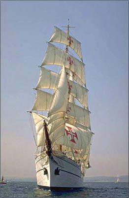 Portuguese tall ship Sagres.
