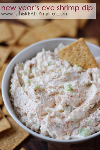Happy Holidays: New Year's Eve Shrimp Dip from is this REALLY my life? for Tatertots and Jello #recipes #nye #partyideas