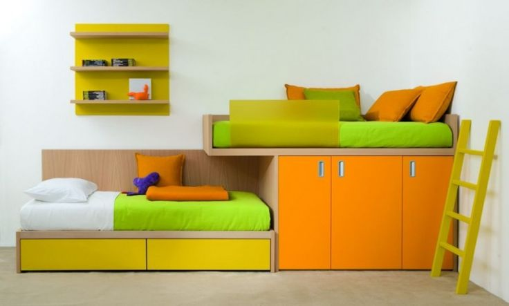 Loft Bunk style bed for narrow room