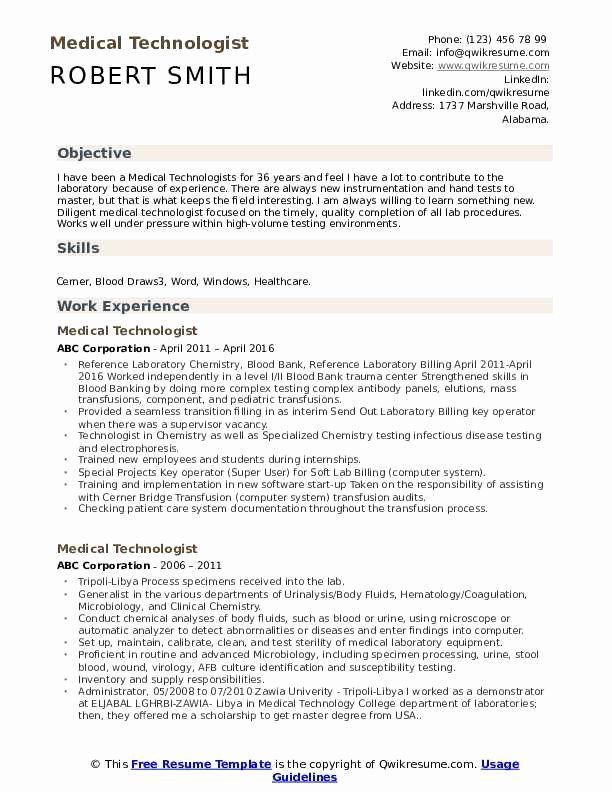 Lab Tech Resume Sample Fresh Medical Technologist Resume Samples Sales Resume Examples Resume Objective Resume Examples