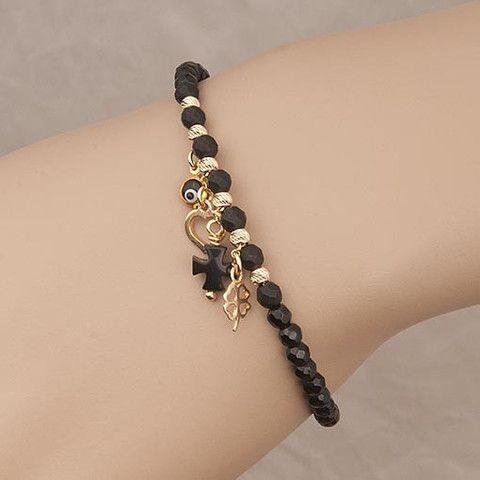 Handmade Black Bracelet Agate  At Anthoshop.com