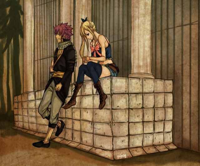 Natsu and lucy I think cool