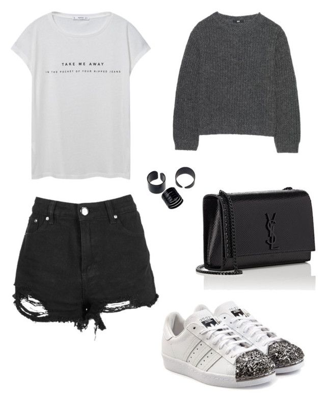 Grab a coffee by anmari29 on Polyvore featuring polyvore, fashion, style, MANGO, Uniqlo, Boohoo, adidas Originals, Yves Saint Laurent, clothing, adidas, casualoutfit, CasualChic, fashionset and coffeestyle