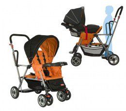 A lot of us have children within just a year to three years between them. If you are one of these or about to join the fray, then take a look at the best sit and stand strollers available.