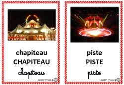Imagier couleur du cirque