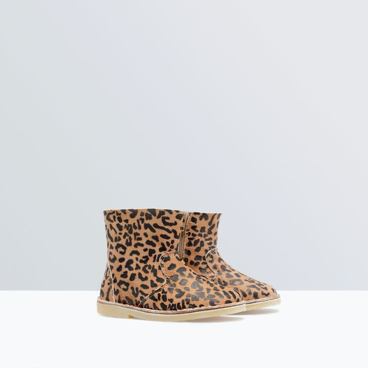 Image 2 of LEOPARD PRINT LEATHER BOOT from Zara | KIDS ...