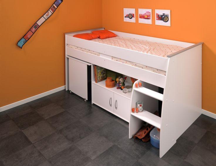Lit combiné et bureau enfant MILO - Lit enfant moins cher - MATELPRO