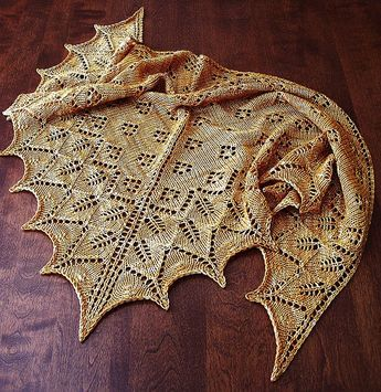 Wow! free shawl pattern on Ravelry
