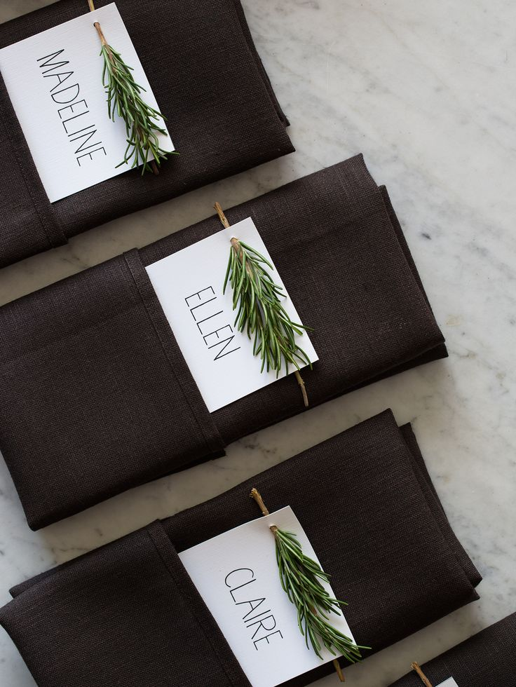 Rosemary Sprig Place Cards | DIY Place Cards
