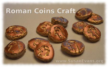 Roman Coins Craft - http://susanevans.org/blog/roman-coins-craft/