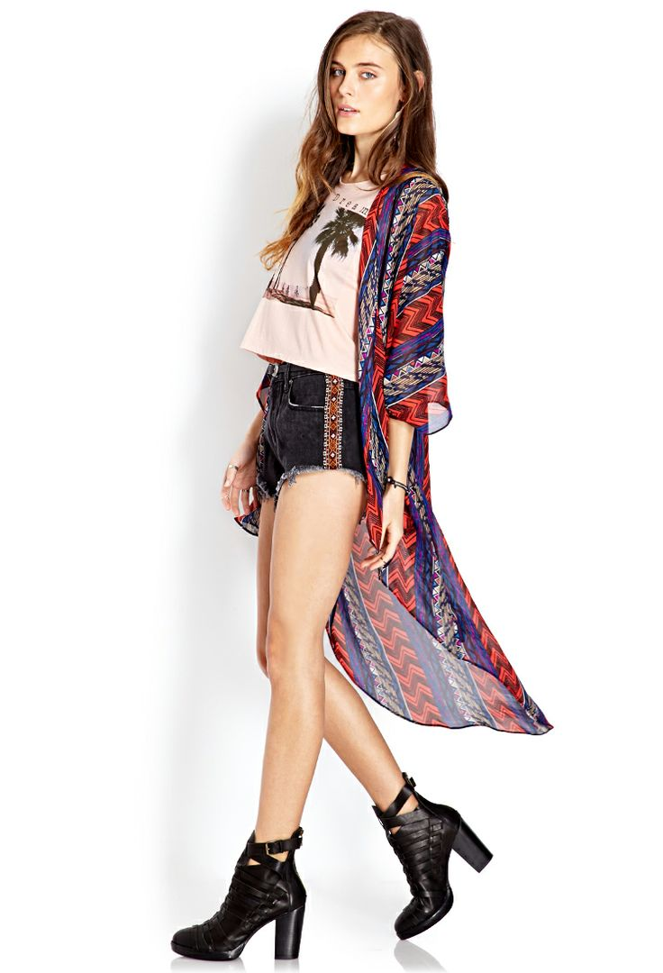 Tribal Print Maxi Cardigan   FOREVER21 - 2000063668   fashion ...
