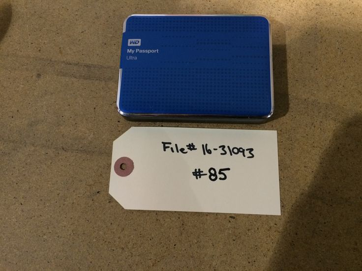 Missing this external hard drive? If you recognize it and can prove it's yours, contact EPSPinterest@edmo...