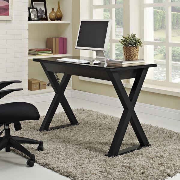 48 in. Black Glass Metal Computer Desk - Overstock Shopping - Great Deals on Desks