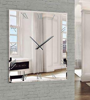 декоративные зеркала квадратные настенные часы, ДИС-арт зеркало, зеркало часы дис-арт зеркало Мурано