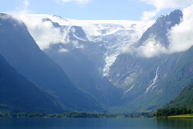 how tiny is mankind...Melkevollbreen (by Bergen64, via Flickr)