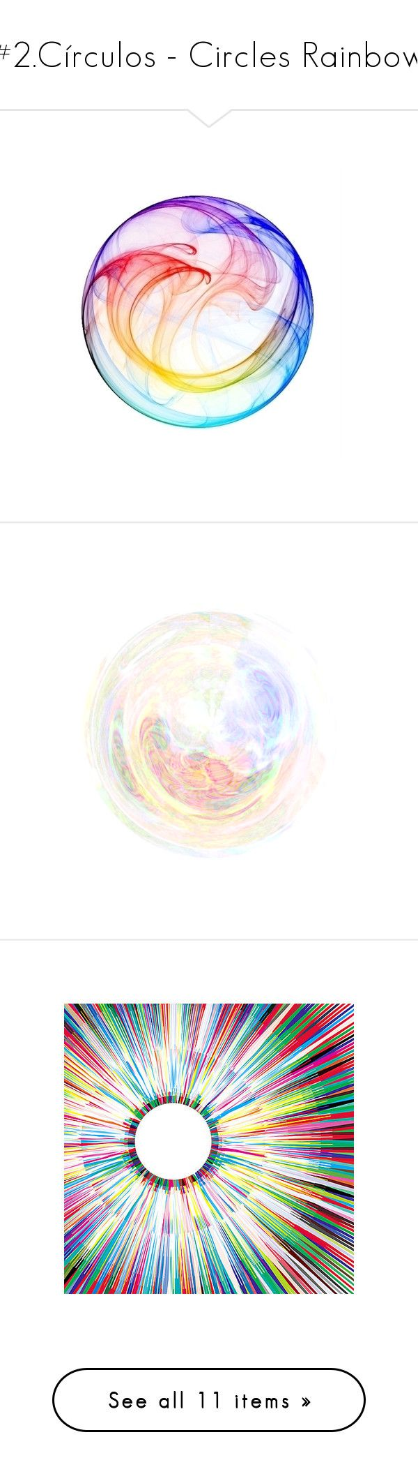 """""""#2.Círculos - Circles Rainbow"""" by rafakeka on Polyvore featuring backgrounds, rainbow, circles, effects, extras, filler, round, circular, circle e bubbles"""