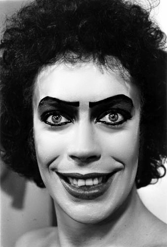 Tim Curry as Dr. Frank-N-Furter - seriously please do this for Halloween!!