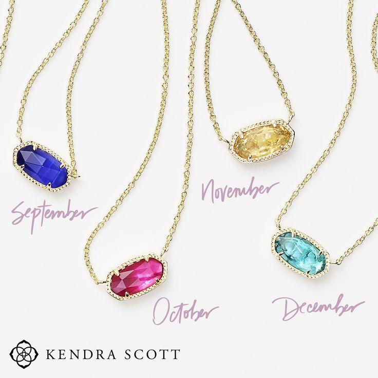 Sneak Peek! Check out these gorgeous Kendra Scott Birthstone Elisa Necklaces at Atlanta West Jewelry. #Birthstone #KendraScott