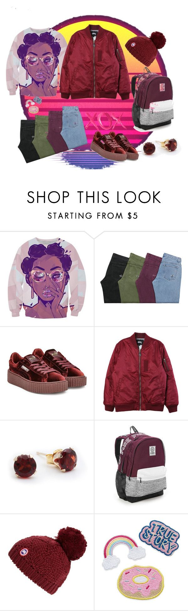 """""""lazy afternoon"""" by skamex on Polyvore featuring Puma, Stussy, Victoria's Secret, Canada Goose and GALA"""