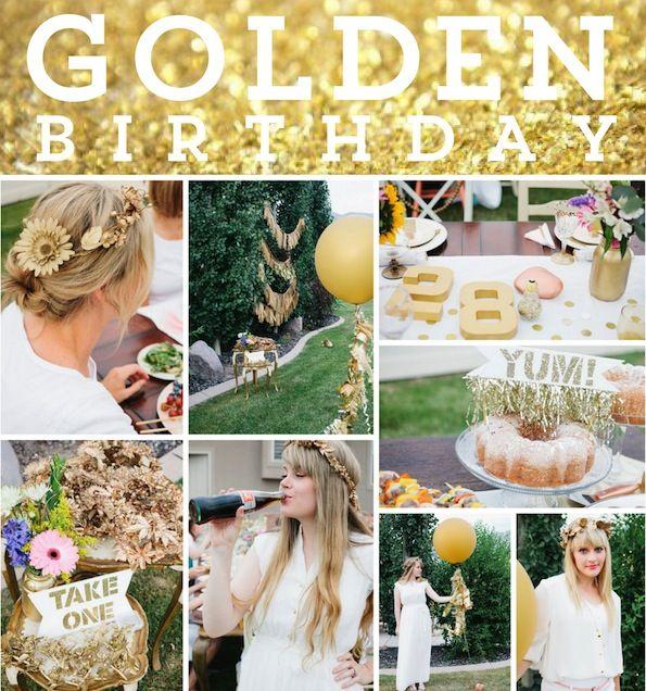 girls golden birthday party ideas | Party Trends: Golden Birthdays.