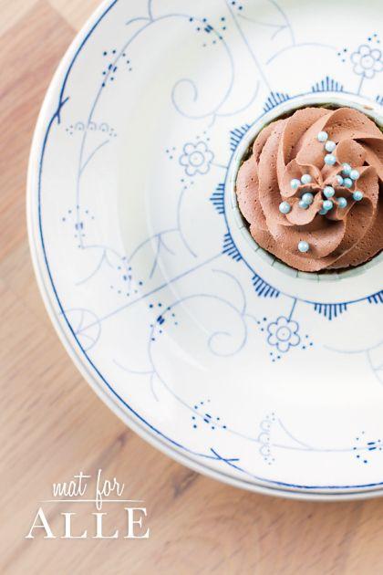 Cupcake, chocolate cupcake, sjokolademuffin, sjokoladecupcake, mat, food, www.matforalle.no