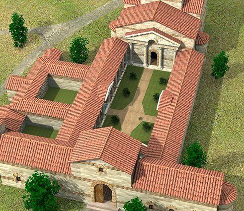 Digital reconstruction of the villa de maternus carranque spain manzara - Maison romaine antique ...
