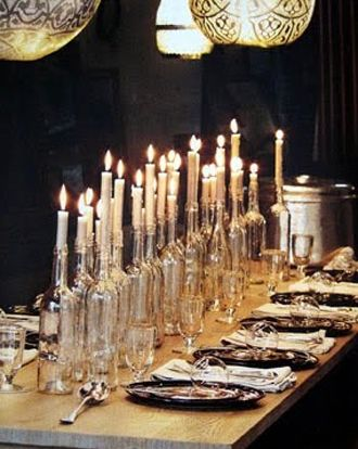 I love candle light - our dinner will have MANY candles lite on the table and around the room