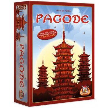 Pagode een bordspel van White Goblin Games. In het oude China is het een heel bijzondere dag vandaag. De Keizer van China heeft zojuist aangekondigd dat hij met zijn gevolg de provincie komt bezoeken waar jij woont. Het is aan de speler van dit Pagode bordspel om hem te eren met het bouwen van imposante Pagodes. Speel met de kaarten om pilaren te verkrijgen en verschillende verdiepingen en daken te kunnen bouwen.