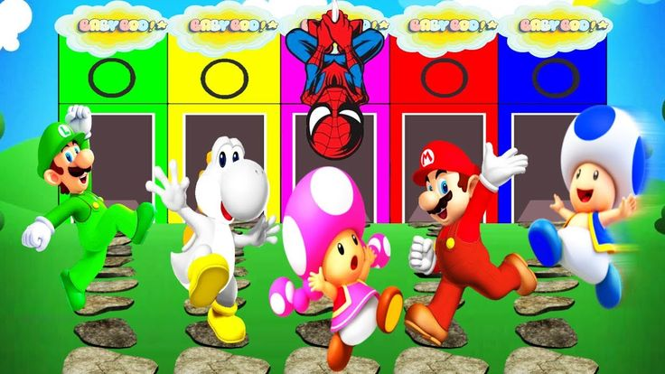 Super Mario RUN English Cartoon Colors For Children , video for children