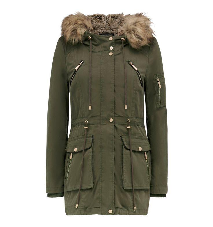 Sasha Parka Jacket Khaki - Womens Fashion   Forever New $159.99