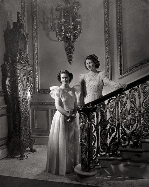 Princesses Margaret and Elizabeth