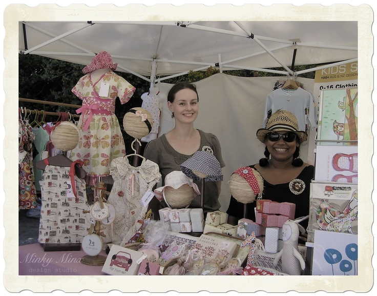 Our shared stall at the Teddy Bear's Picnic at Ripponlea Estate, Victoria 2012. || #events #market #stall #Victoria #Australia #historic #mansion #gardens