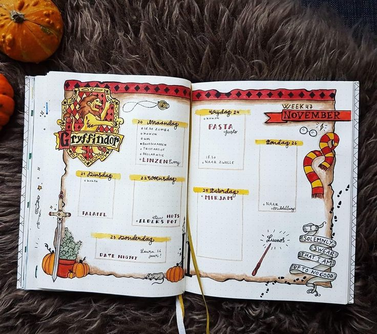 17 Harry Potter Bullet Journal Spreads That Are Magical