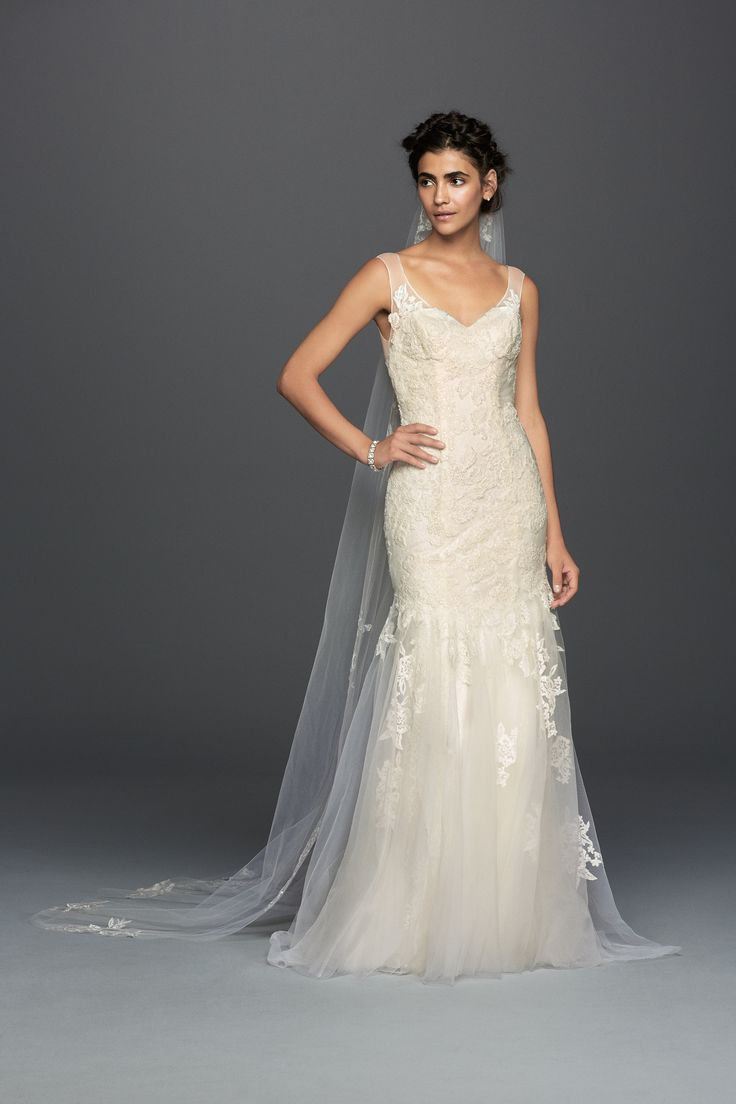 Melissa Sweet Illusion Lace Mermaid Wedding Dress at Davids Bridal