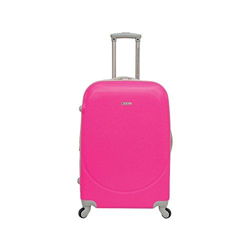 Travelers Polo & Racquet Club Barnet 24 Inch Expandable Spinner Suitcase Neon Pink One Size