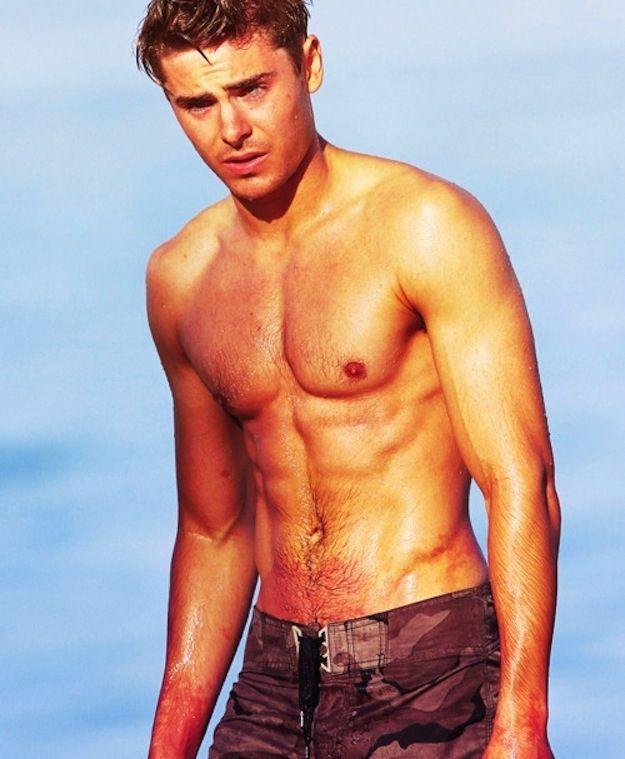 Perez Hilton 'Famous Hotties Who Should ALWAYS Be Shirtless!' Zac Efron