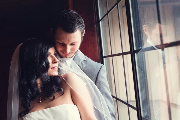 Lazzat Photography | Ruston Chapel Wedding | B&W | Bride and Groom Indoor Portrait Session at Shenanigans C.I. Ruston Way