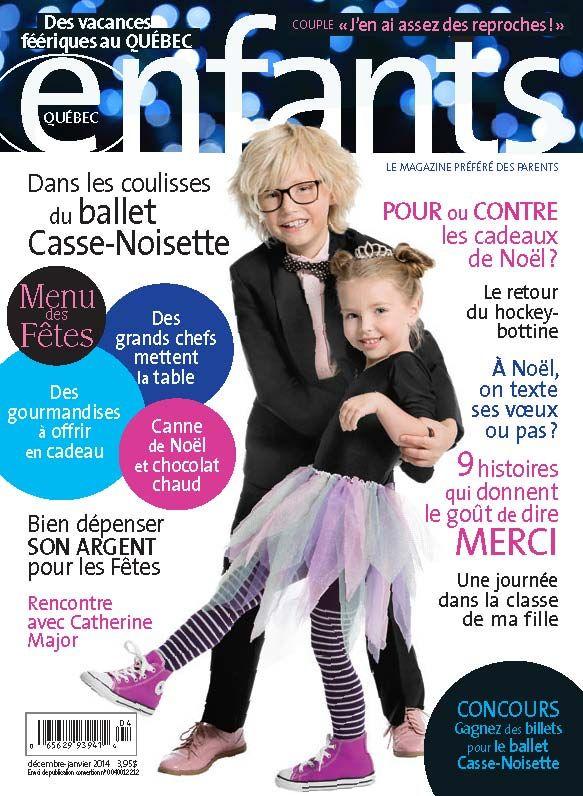 Notre couverture de décembre-janvier 2014 Photo: Marie-Reine Mattera