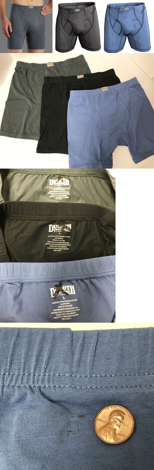 Underwear 11507: Lot 3 Pair Duluth Free Range Cotton Boxer Briefs Mens L New Msrp $58.50! -> BUY IT NOW ONLY: $43 on eBay!