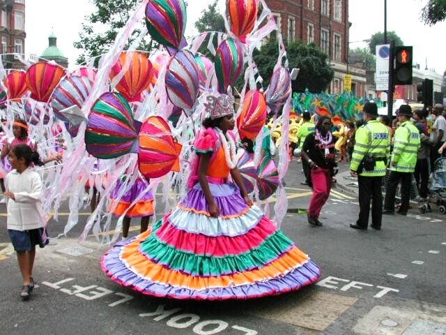nottinghill carnival costmes - massive dress, hard work to wear all day. #nottinghill #carnival