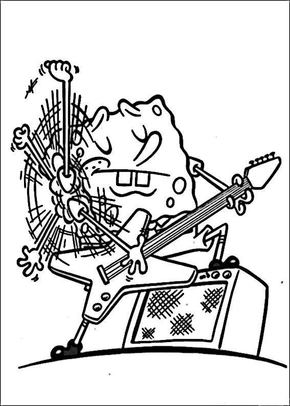 Desenhos para pintar Bob Esponja 21