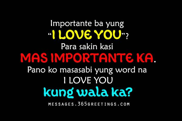 Tagalog Love Quotes for Him - Messages, Wordings and Gift Ideas