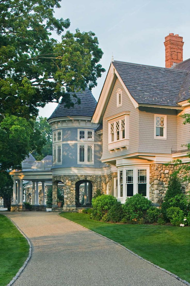 313 best Shingle Style Homes images on Pinterest House exteriors