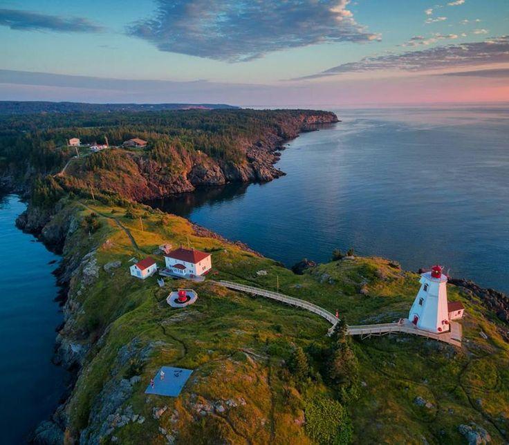 Swallow Tail Lighthouse on Grand Manan Island, New Brunswick, Canada