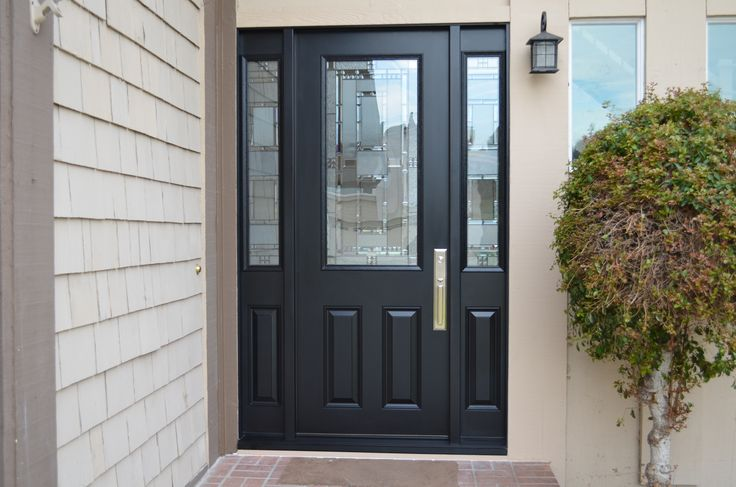 Black Door With Side Light : Best images about foot tall doors on pinterest